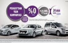 Peugeot'dan Yılsonuna Özel 0 Faiz Kampanyası